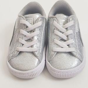 Puma Basket Holiday Glitz Sneakers Baby Size 4C